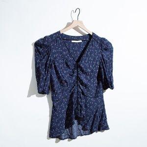 peplum blouse by  veronica beard